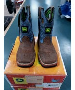 John Deere JD1317 Toddler/Kids Boots Pull-on Blue with Stitching - $59.99