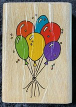 Stampcraft Balloons 440H64 Wooden Rubber Stamp  - $12.86