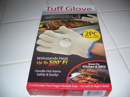 TUFF GLOVE AS SEEN ON TV,  BEIGE, HOT SURFACE PROTECTOR UP TO 500 DEGREE... - $8.75