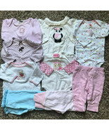 Lot of 9 Girl's Size 3m 0-3 Months Top & Pants Carter's Etc Good -Play C... - $27.00