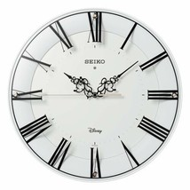 Disney Series Mickey Minnie Mouse White Wall Clock Adult SEIKO New - $265.88