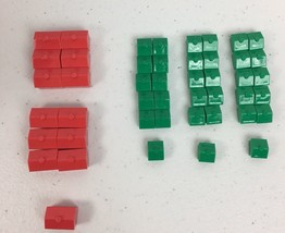 Monopoly Replacement Pieces Hotels and Houses 2013   B106 - $4.95