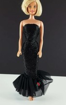 Barbie 982 Solo In The Spotlight 1995 Black Strapless Gown Reproduction ... - $9.89