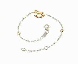 18K WHITE AND ROSE GOLD BRACELET FOR KIDS WITH ROCKING HORSE MADE IN ITALY image 1