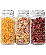 ComSaf Airtight Glass Canister Set of 3 with Lids 78oz Food Storage Jar ... - £31.34 GBP