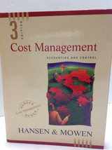 Cost Management Accounting and Control by Maryanne M Mowen Don R Hansen ... - $16.82