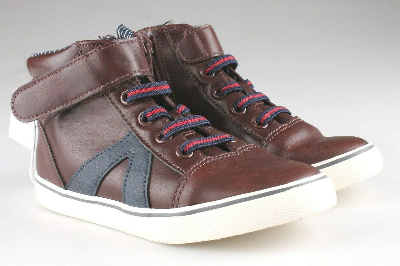 0Cat & Jack Toddler Boys' Brown Ed Sneakers Mid Top Shoes 12 US NWT