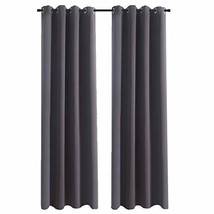 Aquazolax Thermal Insulated Blackout Curtain Panels Blackout Curtains 52... - $33.83