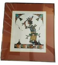 Oyegin Pin Warrior Dancer watercolor painting Michael Padilla San Juan P... - $499.00