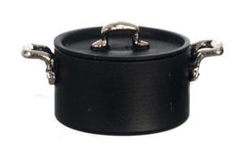 DOLLHOUSE MINIATURES LARGE BLACK TEFLON POT #A4471BK - $8.42