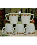 Pyrex Butterfly Gold D Handle Coffee Mugs #1410 Set Of Five - $6.93