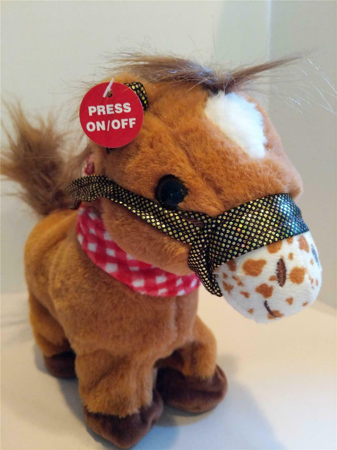 Primary image for GOFFA Animated Plush Stuffed Pony Horse Western Cowboy Plays Music & Trots NWT