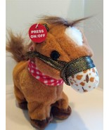 GOFFA Animated Plush Stuffed Pony Horse Western Cowboy Plays Music & Tro... - $19.75