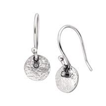Silpadasterling Silver Mini Crystal Disc Drop Earrings - $24.62