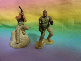 2006 Hasbro Miniature Military PVC Figures with Weapons - $7.80