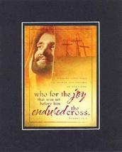 Who for the joy 8 x 10 Inches Biblical/Religious Verses set in Double Be... - $11.14