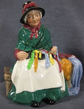 "Royal Doulton Silks and Ribbons HN2017 Figurine 6"" Vintage England 1948 image 2"