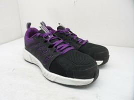 Reebok Work Women's Fusion Flexweave CT Work Shoes RB315 Black/Purple Si... - $75.99