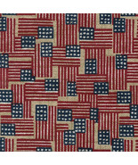 Genuine Longaberger Small Bin Basket Liner ~ Old Glory Fabric OE - $19.55