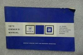 Buick Lesabre Electra Riviera Estate Wagon Centurion 1972 Owners Manual 14680 - $19.75