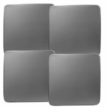 Reston Lloyd Square Gas Stove Burner Covers, Set of 4, Stainless Steel Look - $21.54