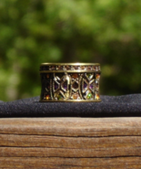 Heidi Daus Ring, Mosaic Masterpiece, Wide Cigar Band, Signed Heidi Daus ... - $175.00