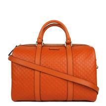 Gucci Microguccissima Orange Leather Dome Boston Bag - $1,650.00