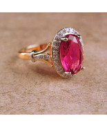 Garnet Solitaire ring - size 6 1/2 Ring - faceted cocktail Ring - Januar... - $75.00