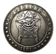 Hobo Nickel 1881-CC USA Morgan Dollar Happy Halloween day COPPY COIN For... - $5.99