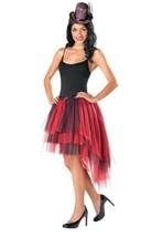 Adult Womens Red Black Tutu Skirt & Lining 2 Pc Halloween Costume Accessory- OS - $14.85