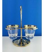 3pc EUC Vintage KROMEX Gold Condiment Caddy Lazy Susan Mayonnaise Relish... - $28.71