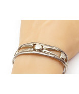 MEXICO 925 Sterling Silver - Vintage Smooth Open Design Cuff Bracelet - ... - $70.13