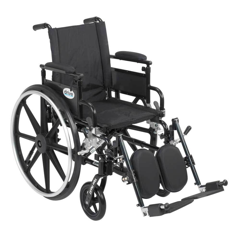 Drive Medical Viper Plus GT With Desk Arms and Leg Rests 18''