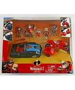 Disney The Incredibles 2 Family Pack 5 figurines & 2 Vehicules  New - $35.32