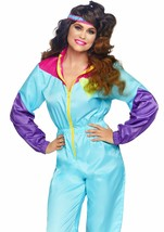 Leg Avenue Awesome 80s Tracksuit Retro Adult Womens Halloween Costume 86813 - $44.99