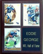 Frames, Plaques and More Eddie George Tennessee Titans 3-Card 7x9 Plaque - $19.55