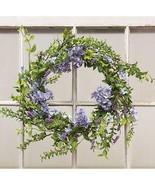 "New Spring Floral Little Lilac Wreath, 24"" Green Purple Door Decor - $54.40"