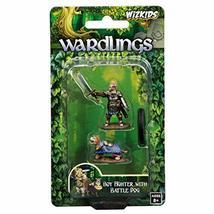 WizKids Wardlings Boy Fighter with Battle Dog Painted Fantasy Miniatures Set WZK - $10.02