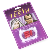 Funny Party Costume Fake Teeth Fangs with Blood Pills for Halloween - $5.99