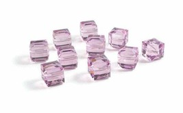 4pcs - 4mm Swarovski Crystal Cube Beads #5601 - You Choose The Color image 2