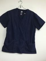 Dagacci Scrubs Medical Uniform Set Women's Small, Black V-Neck Top. Pre ... - $9.74