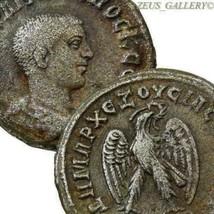 PHILIP II Scarce bare head, Eagle SC Authentic Large Ancient Roman Empir... - $265.50