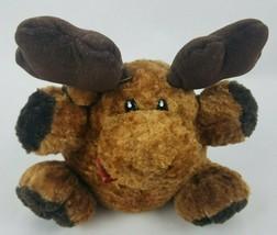 "Dan Dee Collectors Choice Moose 8"" Plush Brown Plaid Bow Tie Stuffed Animal - $16.92"