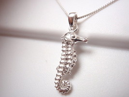 Seahorse Necklace 925 Sterling Silver Corona Sun Jewelry ocean beach sand reef - $16.82