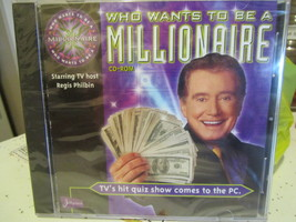 WHO WANTS TO BE MILLIONAIRE New in wrapper CD TRIVIA GAME all ages FAMIL... - $9.99