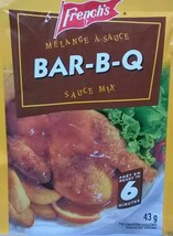 12 Pack French's Bar B Q BBQ Sauce Mix 43g Each - From Canada FRESH & Delicious! - $31.41