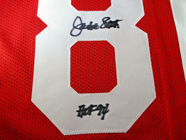 JACKIE SMITH / AUTOGRAPHED INSCRIBED ST LOUIS CARDINALS RED CUSTOM JERSEY / JSA  image 4