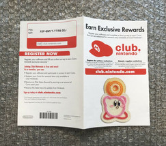 Nintendo Wii Club Nintendo Registration Insert - 100% Original/Authentic - $4.75