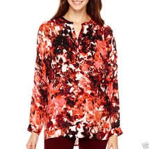 a.n.a Long-Sleeve Floral Blouse Plus Size 3X Msrp $44.00 New  - $14.99