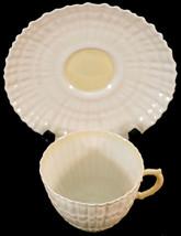 Irish Belleek Third Black Mark 1926-1946 Cob Lustre Limpet Cup & Saucers... - $62.50